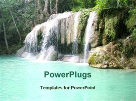 View of small water fall powerpoint theme