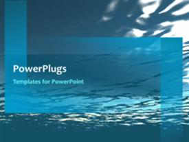 PowerPoint template displaying video of flowing water underwater on first slide and non-video background on next slides