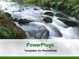 Water fall powerpoint theme