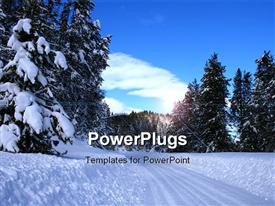 Winter driving on rural roads in central Idaho powerpoint template