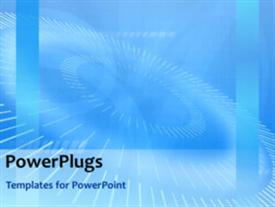 PowerPoint template displaying animated background with multiple rolling circles on blue background