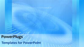 PowerPoint template displaying animated background with multiple rolling circles on blue background - widescreen format