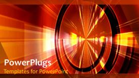 PowerPoint template displaying abstract technology network in the background.