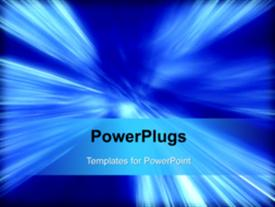 PowerPoint template displaying a short video of an abstract background