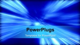 PowerPoint template displaying a short video of an abstract background - widescreen format