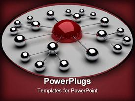 Spheres from metal as communications example template for powerpoint