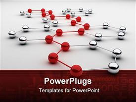 Spheres from metal as communications example powerpoint template