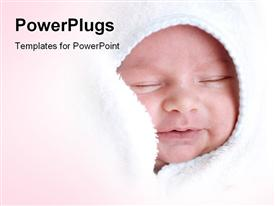 PowerPoint template displaying cute baby