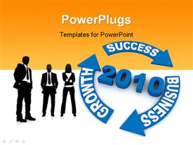 PowerPoint template displaying new business year concept computer generated depiction for special design in the background.