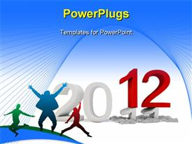 PowerPoint template displaying happy New Year 2012