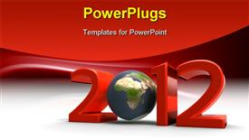 PowerPoint template displaying our planet in the new year 2012