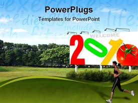 2010 new year concepts for various purposes such as calendars, greeting cards, etc powerpoint design layout