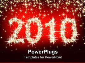 PowerPoint template displaying christmas 2010, this depiction may be useful as designer work