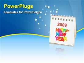 Desktop calendar of 2009 powerpoint theme