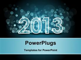 Happy New year blue background powerpoint theme