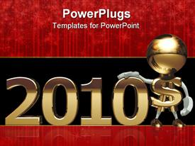 PowerPoint template displaying mr. dollar in new 2010