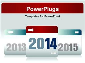 New Year 2011,2012 number with reflections template for powerpoint