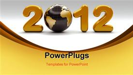 PowerPoint template displaying new year 2012