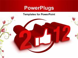 PowerPoint template displaying new Year 2012 - Like Concept