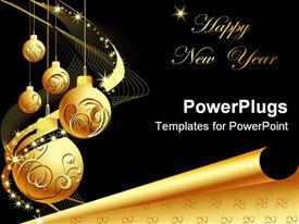 New Year background with stars and decorations presentation background