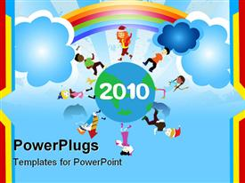 To be used as new years, celebrations, occasions and children's theme powerpoint template
