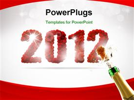 PowerPoint template displaying beautiful 2012 happy new year background