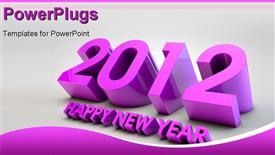 PowerPoint template displaying of 2012 upcoming year greetings