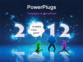 PowerPoint template displaying new Year Card