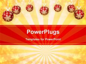 Christmas & New Year greeting card powerpoint theme
