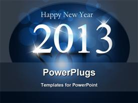 PowerPoint template displaying new Year background