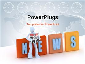 Concept of news and communication powerpoint template