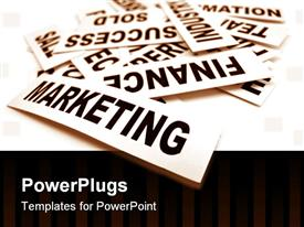 PowerPoint template displaying a number of marketing signs with white background