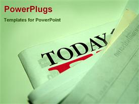 PowerPoint template displaying stack news papers today text one