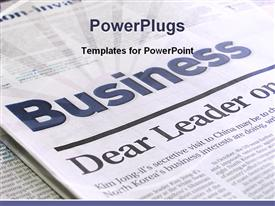 PowerPoint template displaying beautiful depiction business page newspaper