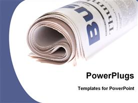 Rolled newspapers powerpoint template