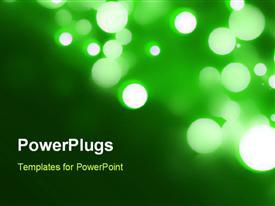 PowerPoint template displaying blurred lights bokeh Circular bokeh on blue background