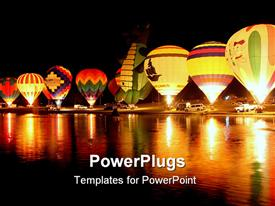 Annual hot air balloon glow at Pellissippi State Community College powerpoint theme