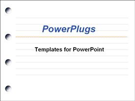 PowerPoint template displaying blank notepad in the background.