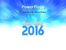 PowerPoint template displaying change represents the new year 2016 with zoom effect in background