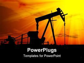 PowerPoint template displaying petroleum Industry Development