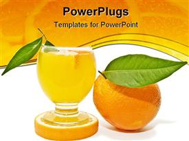 PowerPoint template displaying this depiction is part of a collection of natural citrus. depictions taken in the background.