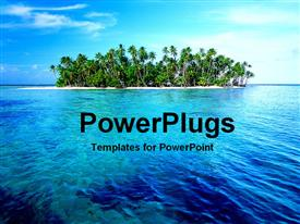 PowerPoint template displaying palmTreeIsland507