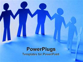 PowerPoint template displaying a number of figures with bluish background