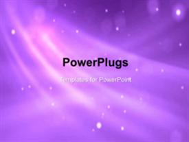 PowerPoint template displaying abstract moving particles with nice flare