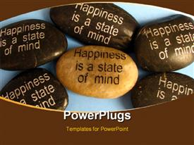 Popular affirmation saying used in mental and emotional health and spirituality or philosophy powerpoint design layout