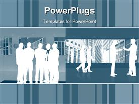 Abstract Business people template for powerpoint