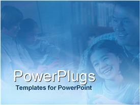 PowerPoint template displaying parents and children