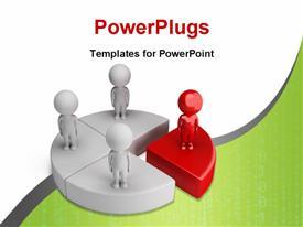 Pie chart with team powerpoint design layout