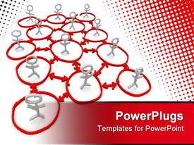 PowerPoint template displaying white sick figures in red circles connected by arrows