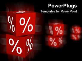 PowerPoint template displaying a pair of dices with their reflection in the background